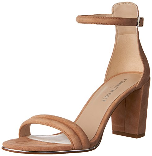 Cole Sandals Suede Kenneth (Kenneth Cole New York Women's Lex Heeled Sandal, Buff, 7.5 M US)