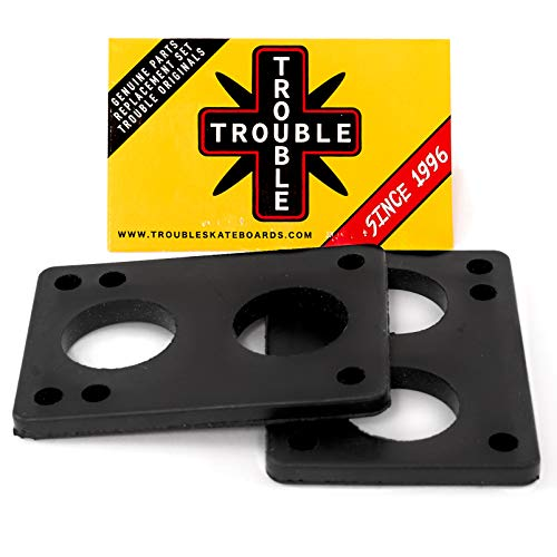 """TROUBLE SKATEBOARDS Riser Pad Rubber Risers 6mm 1/4"""" Set of 2 (R2) (6mm 1/4"""")"""