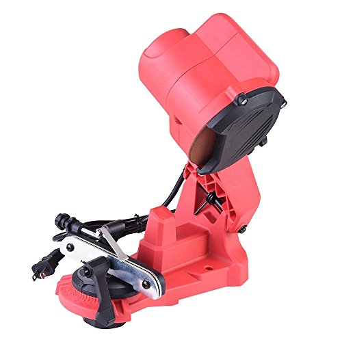 """PNR Electric Power Chain Saw Sharpener Chainsaw 5500RPM 1/8"""" Grinder Wheel 7/8"""" Arbor Bench Wall Mount Tool"""