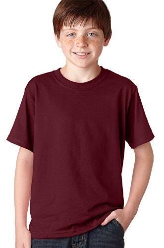 Jerzees Youth 5.6 oz, 50/50 Heavyweight Blend T-Shirt (29B)- Maroon,M (Heavyweight Jerzees Blend Youth)