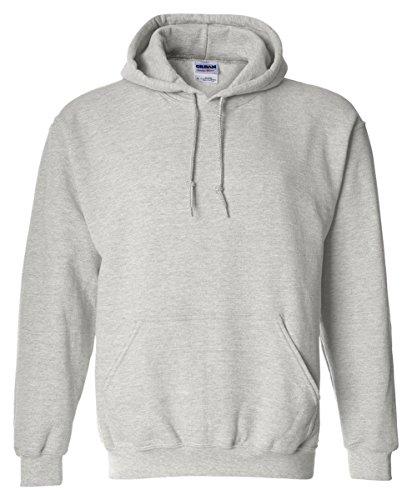 Gildan 18500 - Classic Fit Adult Hooded Sweatshirt Heavy Blend - First Quality - Ash Grey - X-Large