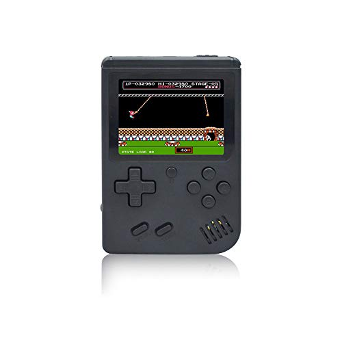 Handheld Game Console , 3 Inch 168 Classic Games Retro FC Game Console , Birthday Parent for Children - Black