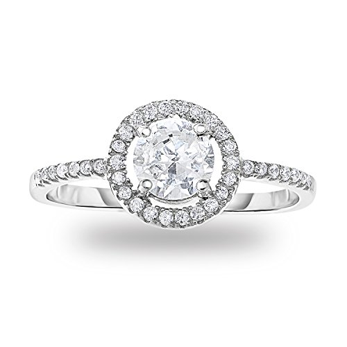I love this ring. It's cute and the right fit. It's beautiful and you can't even tell its CZ.
