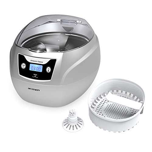- Skymen Ultrasonic Jewelry Cleaner Sonic Cleaning Machine for Silver Jewelry, Diamond Rings, Necklaces, Eyeglasses, Dentures, Watch Belt, 750ml