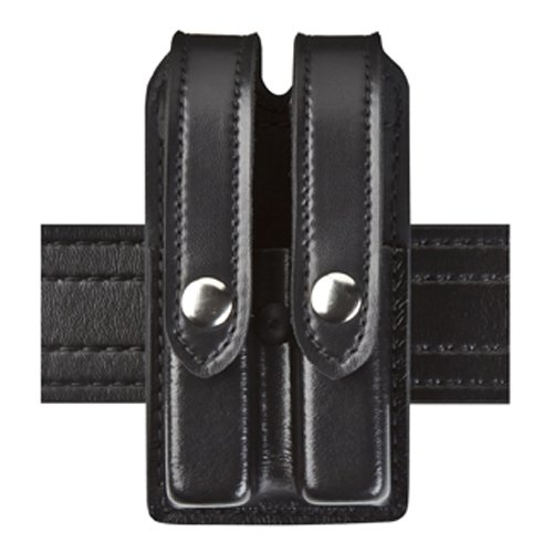 Safariland Duty Gear Slimline Double Magazine Pouch with Flap STX Black Glock 17, 22, 34, 34; Sig - Mag Double Pouch Safariland