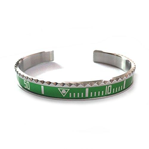 - Fashion loft Dial Steel Speedometer Bangle man (Green)