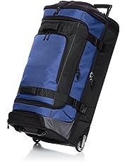 AmazonBasics - Mochila con ruedas de ripstop, 95 cm 113 litros - Azul