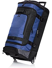 Ripstop Rolling Travel Luggage Duffle Bag With Wheels - 37 Inch, Blue