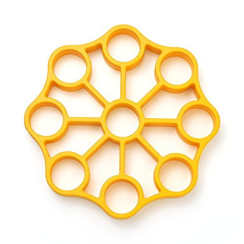 OXO 11244700 Good Grips Silicone Egg Rack,Yellow