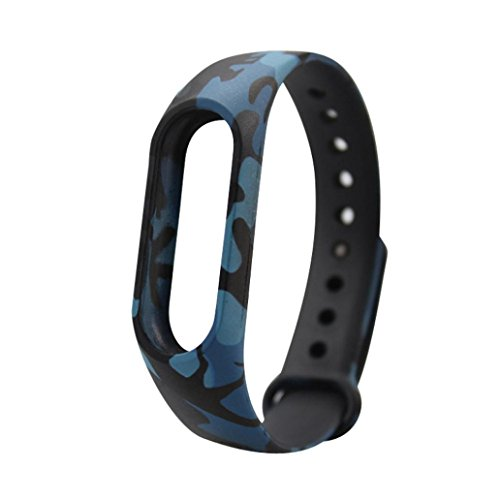 Price comparison product image Alonea Replacement Wristband Band Strap + Metal Case Cover For Xiaomi Mi Band 2 Bracelet (F)