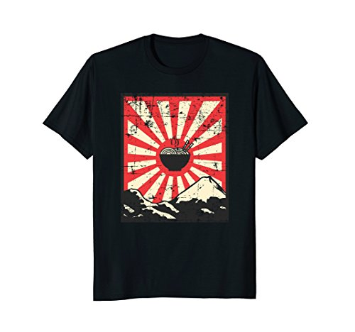 (Japanese Anime Ramen Distressed Vintage T-Shirt)