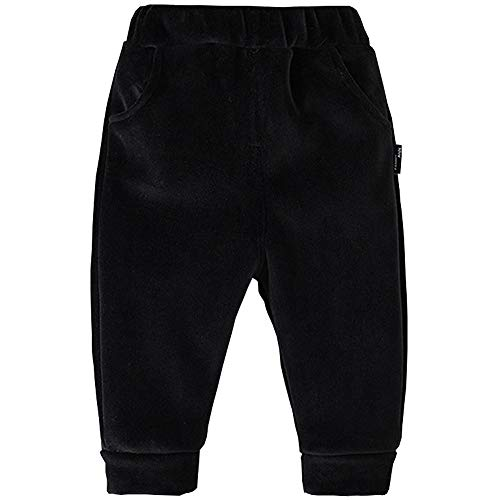 Lined Pants Trousers - Boyzn Baby Pants Baby Boys Girls Thicken Fleece Lined Pants Winter Long Pants Warm Casual Trousers Black Size 80(12-18 Months)