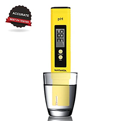 Digital PH Meter, VANTAKOOL PH Meter 0.01 PH High Accuracy Water Quality Tester with 0-14 PH Measurement Range for Household Drinking, Pool and Aquarium Water PH Tester Design with ATC