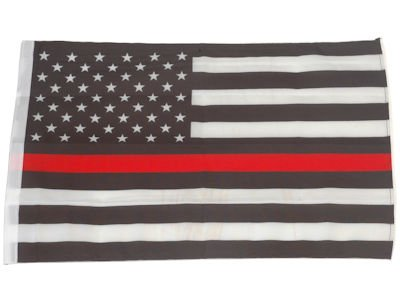 SMF Small 12 Inch X 20 Inch Replacement Flag For Whip Antenna Thin Red Line Fire Fighter Support