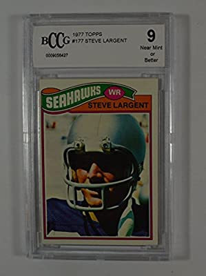1977 topps #177 STEVE LARGENT seattle seahawks rookie card BGS BCCG 9 Graded Card