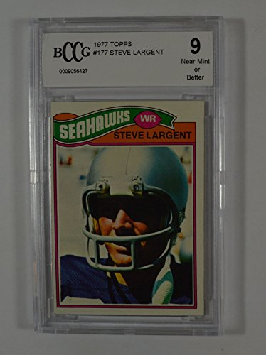 1977 topps #177 STEVE LARGENT seattle seahawks rookie card BGS BCCG 9 Graded Card 1977 Rookie Card