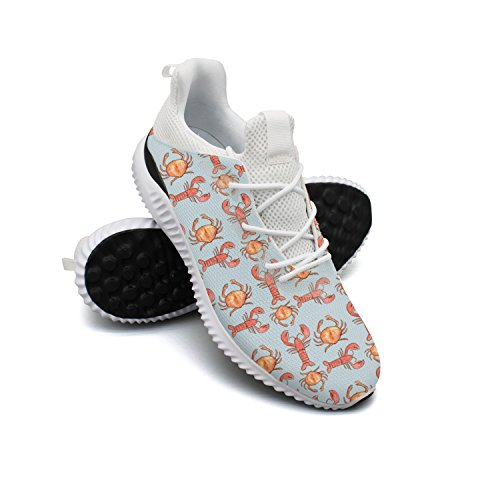 Lobster Crab Crustaceans Seafood Leisure Sports Running Shoes Woman's Neutral Cool Colorful