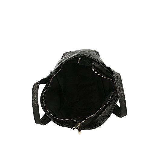 Cm in à Noir Sac véritable en de 25x20x10 Made femme Italy la main cuir Aren CBqn5O5