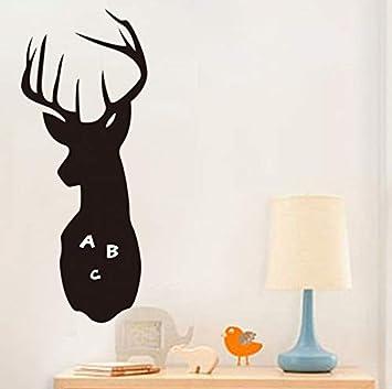 LoveMQ 23x60 cm Cabeza de ciervo pizarra de dibujos animados ...