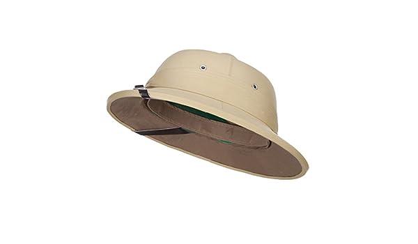 0d1fbaf103195 LTC Indian Genuine Tree Bark Pith Helmet - Khaki OSFM  Amazon.ca  Clothing    Accessories