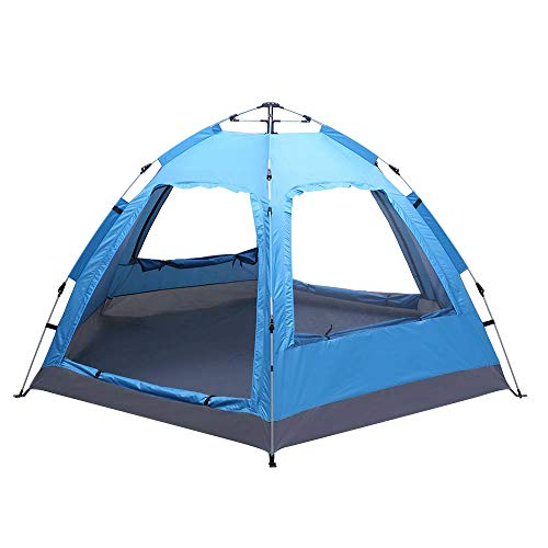 Binlin Camping Tent,3-4 Person Automatic Family Tent Instant Pop Up Waterproof for Camping Hiking Travel Outdoor Activities