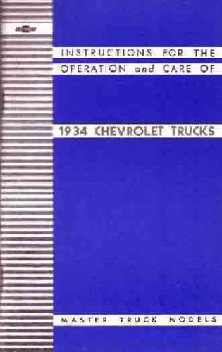 Chevrolet 1934 Truck Owners Manual #C453