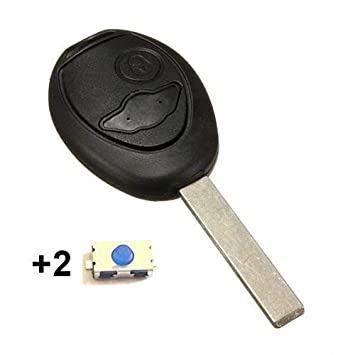 2-Button Remote Car-Key Fob Case for Mini Cooper SD One Clubman – No Logo -  2 Switch Buttons