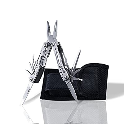 Blackjill Portable Pocket Multi Tool Plier Knife Kit Heavy Duty Stainless Steel Multi-Purpose Tool Hiking,Camping,Survival Tools Bicycle Maintenance Multifunctional Pliers Suspension Multi-Plier from Blackjill