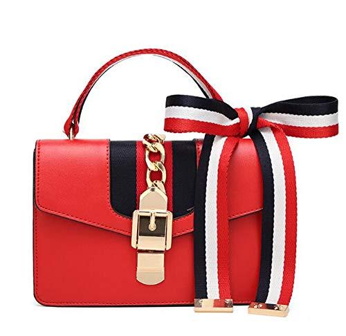Designer Crossbody Bag Purse for Women, Box Shoulder Bag Vintage Crossbody Wallet(red-15228cm)