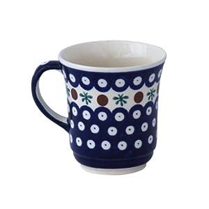 Boleslawiec Pottery Mug, 0.3 L, Original Bunzlauer Keramik, Decor 41