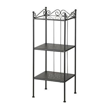 IKEA Regal für Badezimmer schwarz, 42x103 cm, Stahl ...