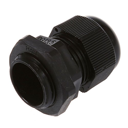 TOOGOO(R) 5 Pcs PG13.5 Black Plastic Waterproof Connectors Cable Glands by TOOGOO(R) (Image #2)