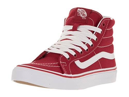 Camionnettes Unisexe-erwachsene Sk8-salut Slimv18i Course High-top Rouge / Blanc Vrai