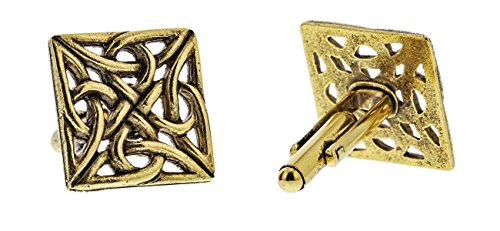 Celtic Gold Link (Gold Celtic Knot Cufflinks By Classic Cufflinks)