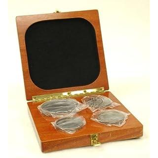 Van Keuren set of four Optical Flats, Cased