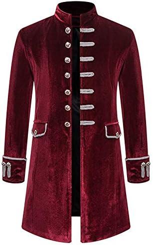 [MANMASTER(マンマスター)]ロングコート ナポレオン風ジャケット ベルベット V系 ステージ衣装 メンズ CXH283