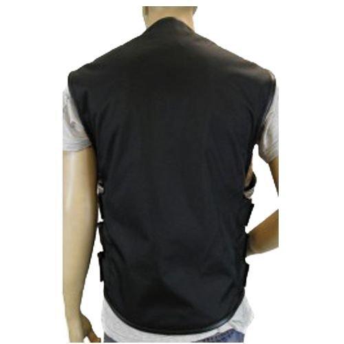 Leather Vance Men'S Bikers Updated SWAT Team Style Black Textile Motorcycle Club Vest Elastics(Regular XL Gray)