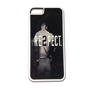iPhone 5c White Kustomyze Case - Derek Jeter RE2PECT Respect New York Yankees