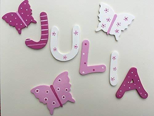 Tolle Holzbuchstaben für Kinderzimmer-Tür, Schmetterling: Amazon.de ...