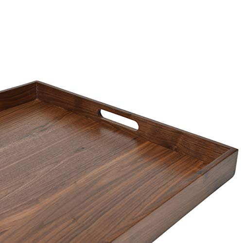 Fine 24 X 24 Inches Ottoman Tray Extra Large Black Walnut Wood Ncnpc Chair Design For Home Ncnpcorg