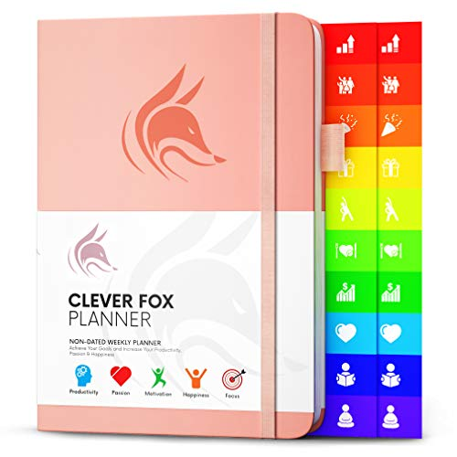 Clever Fox Planner - Weekly & Monthly Planner to Increase Productivity, Time Management and Hit Your Goals - Organizer, Gratitude Journal - Undated, Start Anytime, A5, Lasts 1 Year, Peach Pink(Weekly) (The Most Important Lesson Of My Life)