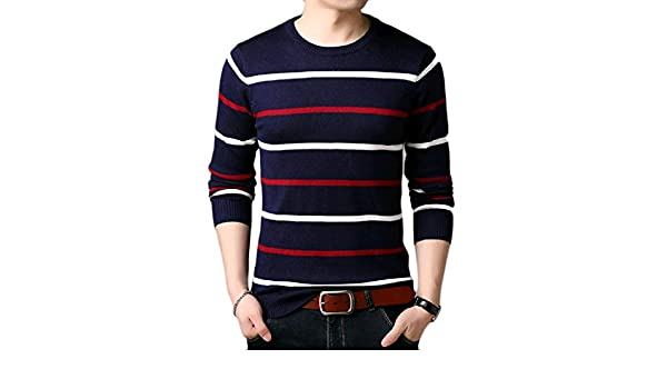 YUNY Mens Crewneck Leisure Business Oversize Pullovers Sweater 13 S