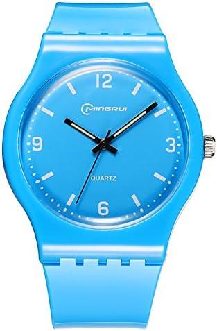 [子供] クォーツ腕時計 学生レジャー 防水腕時計 ラウンドラバーピンバックル ストラップ-B