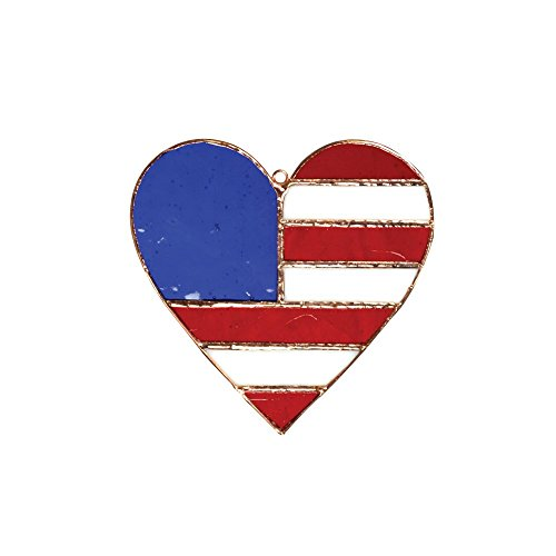 (Gift Essentials Patriotic Heart Suncatcher)