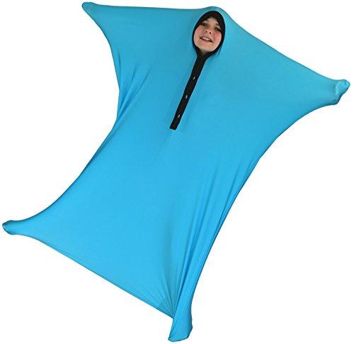 Toy Sack - ZZZ Weighted Blankets Sensory Sack, Sensory Sock, Body Sock (Blue, Medium (6-8))
