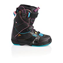 DEELUXE Snowboarding Coco Lara Snowboarding Boots, Black/Rainbow, 24.5