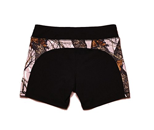 Wilderness Dreams Active Wear Shorts Black with Mossy Oak Pink Size Large 610035 by Wilderness Dreams