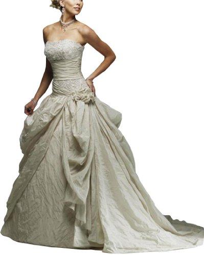 GEORGE Taft Art Stickerei mit Wunderschoene Brautkleider Hochzeitskleider Weiß BRIDE rw0qfYxr