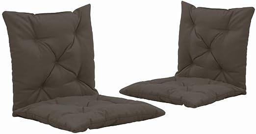 Extaum Cojines para Balancín 2 Unidades Tela Gris Antracita 50 cm, Cojines Exterior Cojines Terraza Cojines Decoracion para Hamaca o Mecedora de Jardín: Amazon.es: Hogar