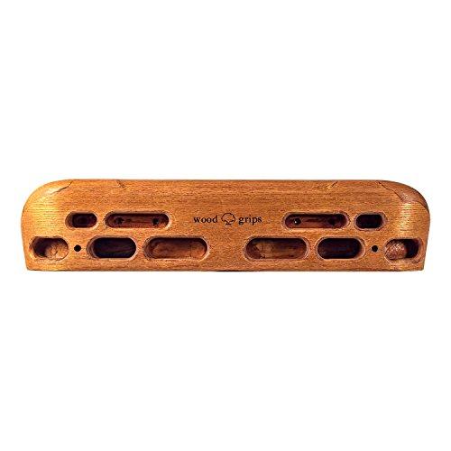 Metolius Wood Grips Compact Training Board Hangboard Dark Finish (Rock Climbing Hangboard)